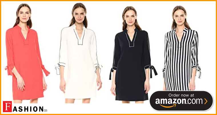10 Best Knee Length Shift Dresses With Sleeves For Women's