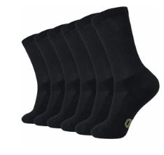 +MD Soft Mens Cushioned Bamboo Casual Crew Socks